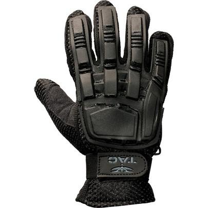 V-Tac Full Finger Plastic Back Airsoft Gloves, Black