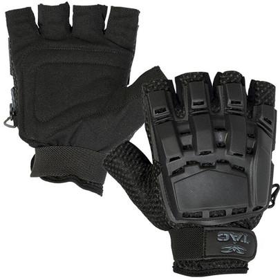 Black V-Tac Half Finger Armored Gloves
