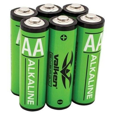 Valken Energy AA Alkaline Batteries, Pack of 6