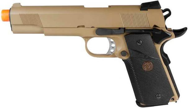 WE Full Metal 1911 MEU Desert Gas Blowback Airsoft Pistol