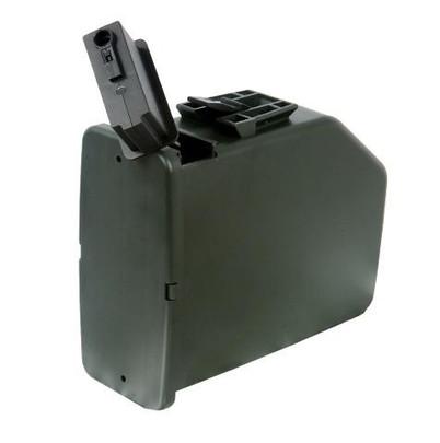 Auto Winding Drum Magazine for AandK M249 SAW Airsoft Gun, 2,500 Round Capacity