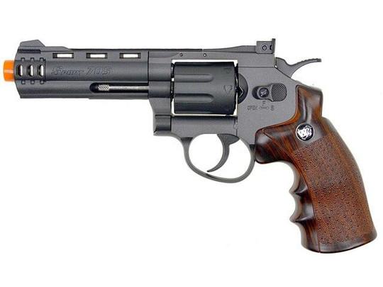 WG 8-Shot CO2 4 Airsoft Revolver, Black