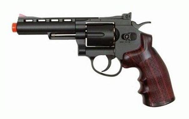 WG CO2 Full Metal Airsoft Revolver, 4 Black