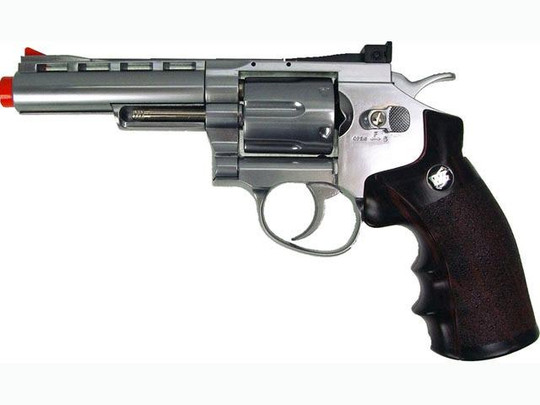 WG CO2 Full Metal Airsoft Revolver, 4 Chrome