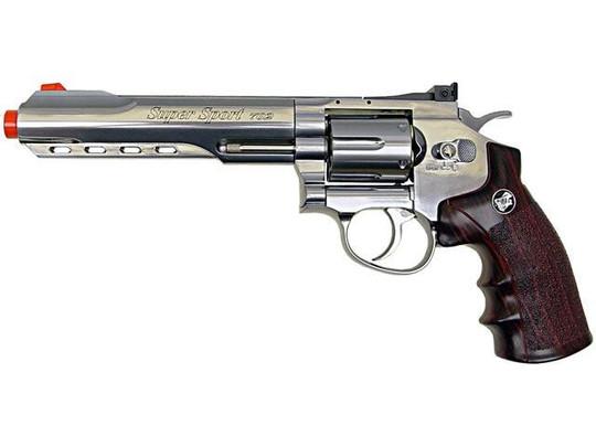 WG CO2 Full Metal Airsoft Revolver, 6 Chrome