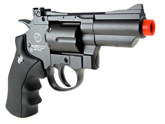 WG CO2 Full Metal Airsoft Revolver, 2 Snub Nose, Black