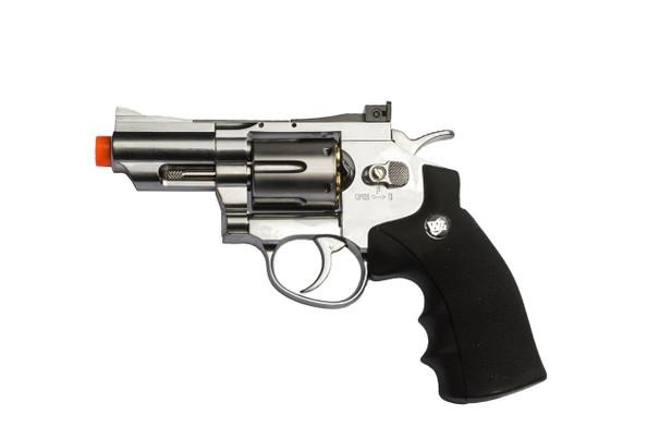 WG CO2 Full Metal Airsoft Revolver, 2 Snub Nose, Chrome