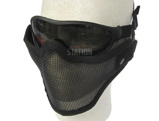 Half Face Mask and Goggles Combo