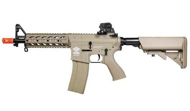 GandG CM16 Raider Short Tan Combat Machine Airsoft Rifle, High Velocity Version