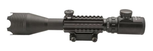 4-16X50mm Tri-Rail Illuminated Sniper Rifle Scope w/ Built In Mount