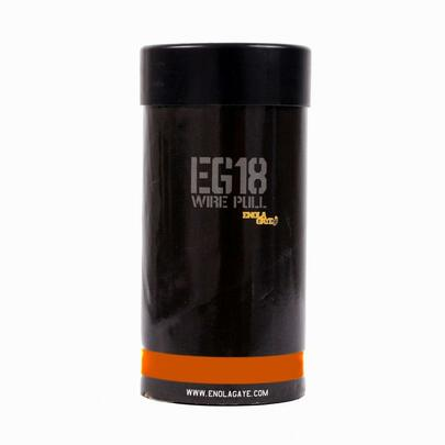 Enola Gaye EG18 High Output Cool Burning Orange Smoke Grenade EG18