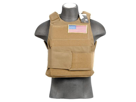 Lancer Tactical Tan Airsoft Body Armor Vest