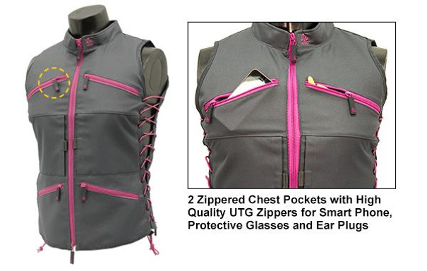 True Huntress Series Grey and Pink Sporting Vest