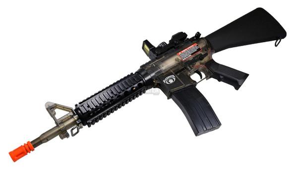 Blackwater BW15 RIS Electric Clear Airsoft Rifle, Smoke