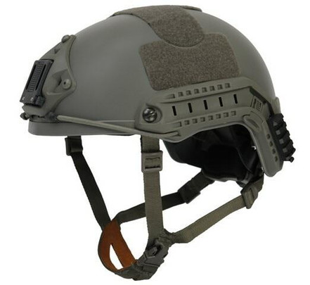 Lancer Tactical NVG Railed SpecOps Military Style Helmet, Foliage Green