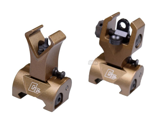 GandG Flip-Up Front and Rear Sights for M16 Series, Tan