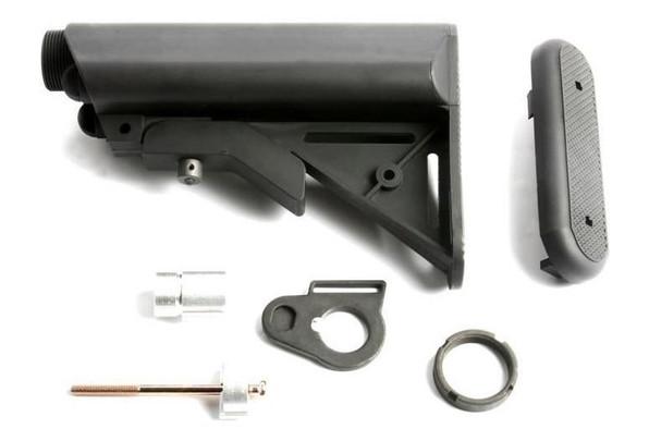 GandG Extended Battery Crane Stock and Buffer Tube Kit, Black