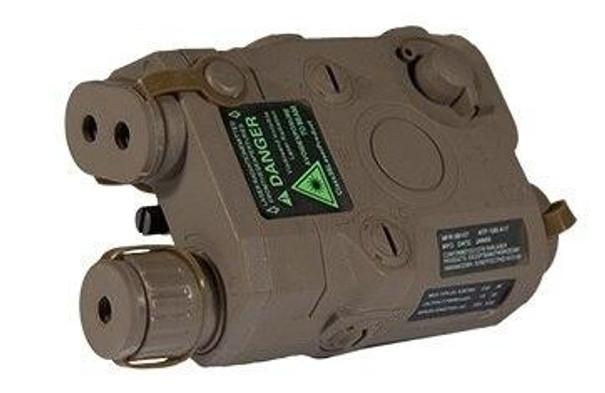 PEQ-15 Battery Box w/ Built In Green Laser, Dark Earth