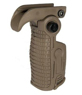 AB163 AK-Style Foldable and Extendable Tactical Foregrip, Dark Earth