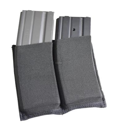 Elastic Double Rifle Magazine Pouch - Black