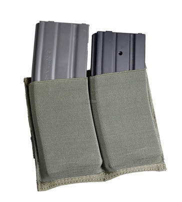 Elastic Double Rifle Magazine Pouch - OD Green