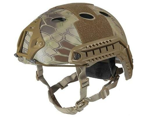Lancer Tactical SpecOps Military Style Helmet, PJ Type with Rails and Velcro, HLD