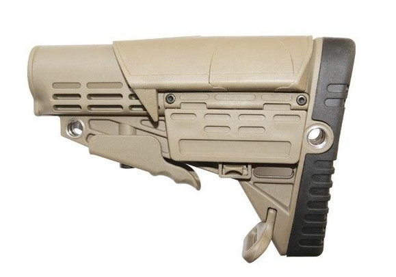 Collapsible Buttstock for Airsoft Guns, Tan