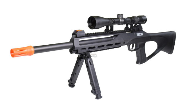 ASG TAC-6 CO2 Semi-Auto Sniper Rifle Kit with Scope, Integrated Laser and Bipod