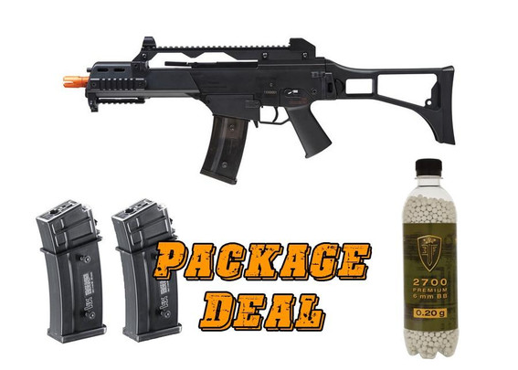 HandK G36C Competition Series Airsoft Rifle Combo Package