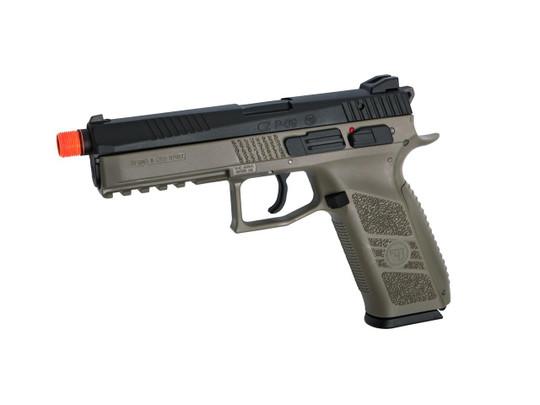 CZ P-09 CO2 Blowback Airsoft Pistol w/ Metal Slide, FDE Two-Tone