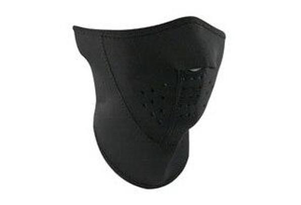 Zan Headgear Tactical 3-Panel Half Mas Neoprene Black Airsoft