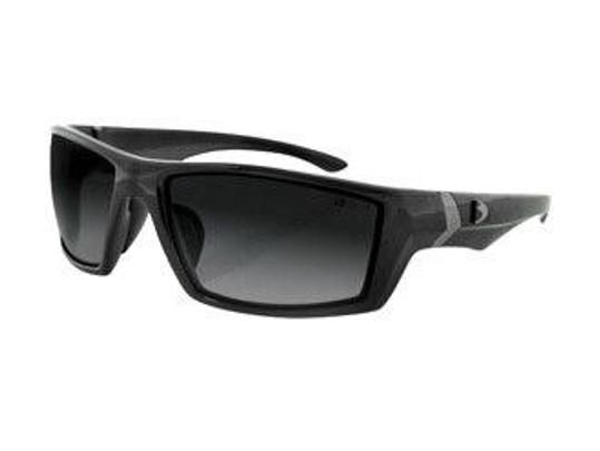 Bobster Tactical Eyewear Whiskey Ballistics Sunglasses Shiny Black Frame Smoked