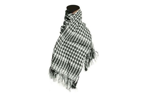 Raptors Airsoft Special Forces Shemagh Scarf, Black/White