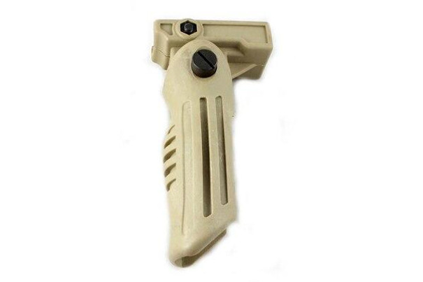 Tactical Tan Airsoft Folding Foregrip Fits 20mm Rail