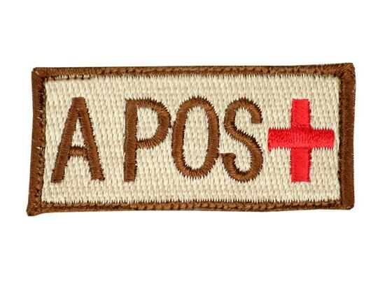 Raptors Tactical 1.5 Blood Type A POS Velcro Patch