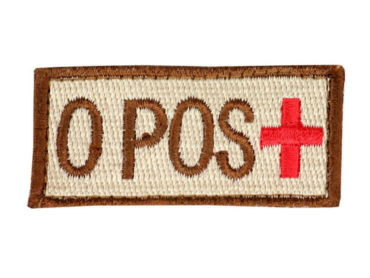 Raptors Tactical 1.5 Blood Type O POS Velcro Patch