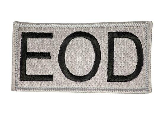 Raptors Tactical 3 Grey EOD Velcro Patch