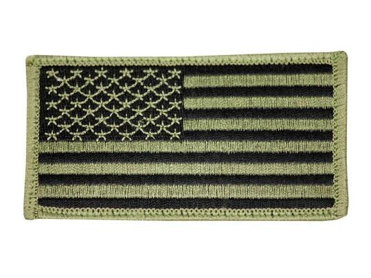 Raptors Tactical 3 US American Flag OD Left Shoulder Velcro Patch