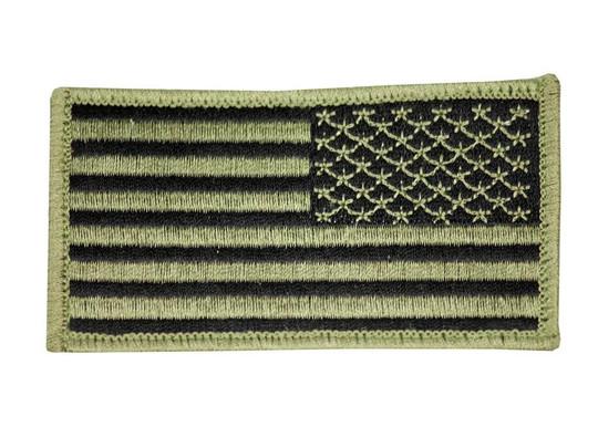 Raptors Tactical 3 US American Flag OD Right Shoulder Velcro Patch