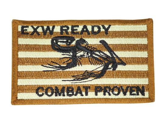 Raptors Tactical 3.5 EXW Ready Combat Proven Skull Frog Iron On