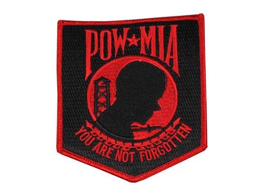 Raptors Tactical 3.5 POW Patch Red Iron On