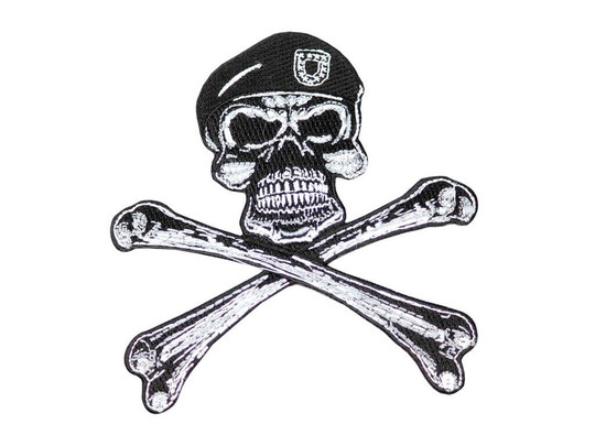 Raptors Tactical 5 Army Skull Crossbones Patch Iron On