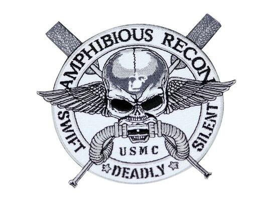 Raptors Tactical 5 Force Recon Amphibious Swift Deadly Silent Iron On Patch