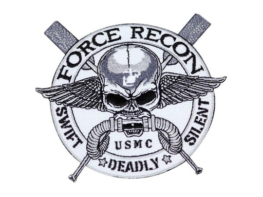 Raptors Tactical 5 Force Recon USMC Swift Deadly Silent Iron On Patch