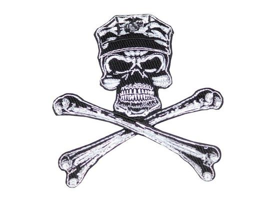 Raptors Tactical 5 Marine Skull Crossbones Patch Iron On