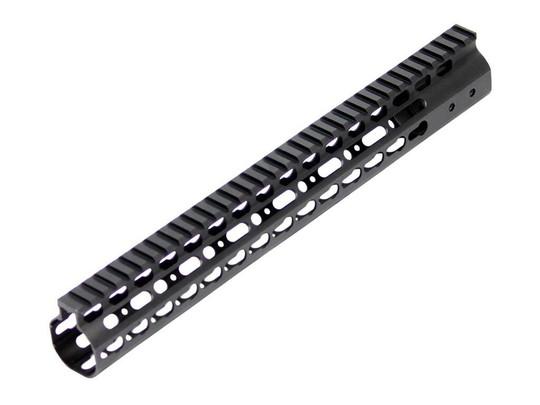 Tactical Keymod Style Aluminum 13.5 inch Free Float Rail System, Black