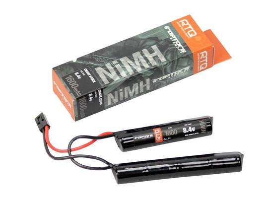Raptors Airsoft RTQ NiMH Crane Stock 1600mah 8.4v Nunchuck Battery