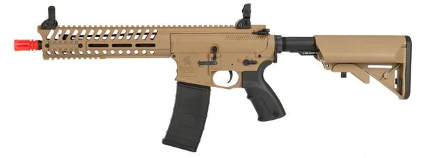 Lancer Tactical Multi Mission Carbine Blowback AEG, 10.5, OEM by Lonex, Tan and Black