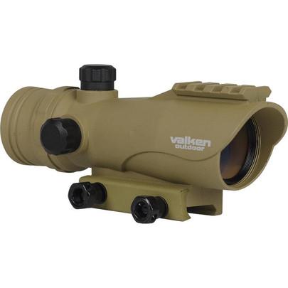 Valken Tactical 30mm Illuminated Red Dot Optic, Tan