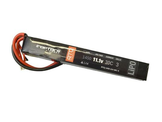 Raptors Airsoft RTQ 11.1V 1450 mAh 30C Stick LiPO Battery